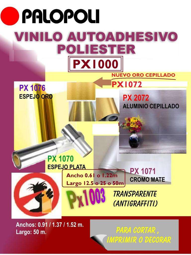 Rollo Vinilo Poliester ORO CEPILLADO 0.61x12.50m Palopoli