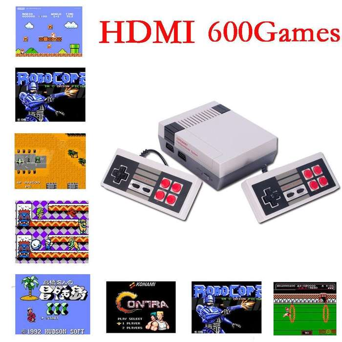 Nintendo Mini Hdmi 600 Juegos Super Retro