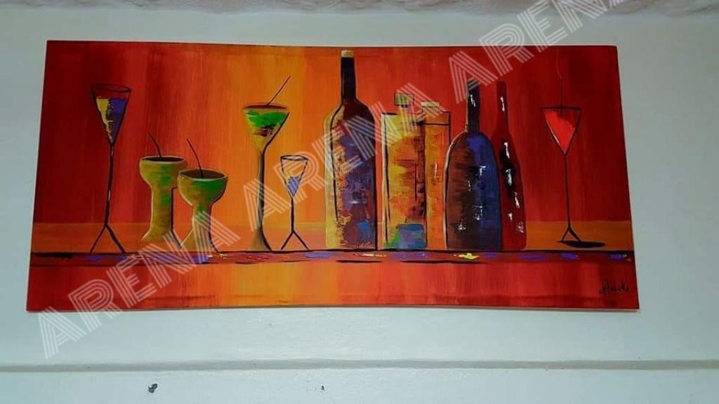 Cuadro Abstracto para Comedor Pintado - Cuenca