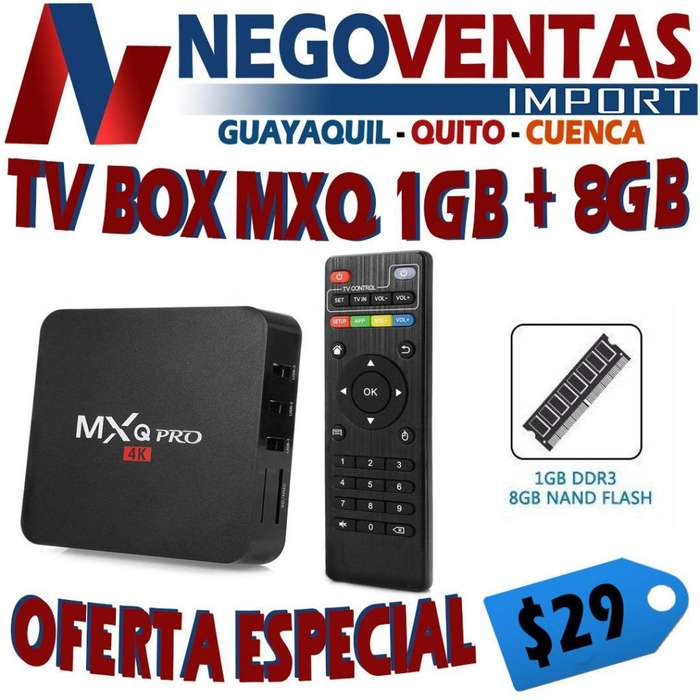 TV BOX MXQ PRO 1RAM 8 G CONVIERTE TU TV NORMAL A SMART