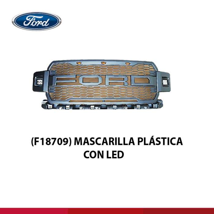 MASCARILLA PLASTICA CON LED <strong>ford</strong>