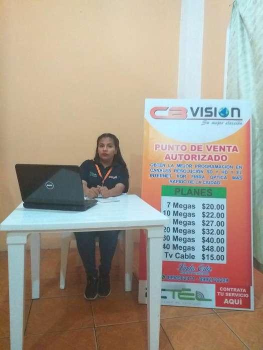 Contrata Tu Servicio de Internet Y Tvcab