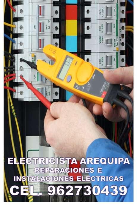 ELECTRICISTA A DOMICILIO. AQP C.962730439. FUGAS ELECTRICAS,CORTOCIRCUITOS, INTERCOMUNICADORES, DUCHAS.INSTALACIONES.