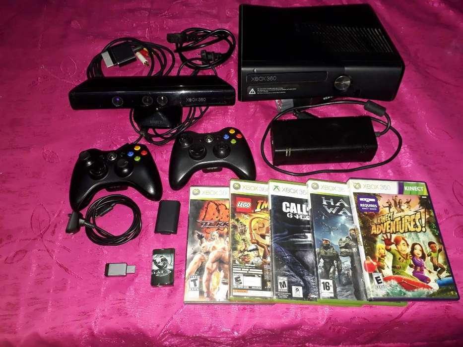 Xbox 360 con Accesorios Y Memoria 250gb