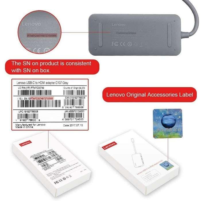 Lenovo Adaptador 7en1 Usbc 4k Hdmi @ Galaxy Book Tab S3 S4*_Tienda C Comercial_*