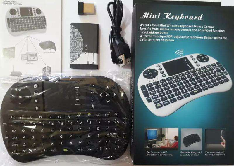 Mini Teclado Android Inambrico Touchpad Smart tv Box