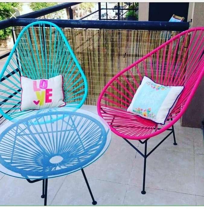 Juegos de <strong>sillas</strong> de mimbre en el color que quieras .