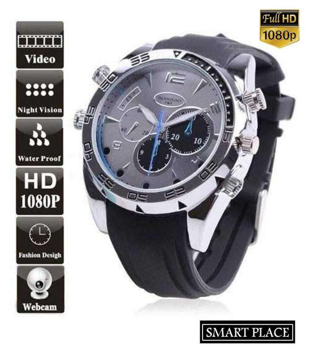 Reloj Camara Full HD 1080P Camara Video Foto Sensor Infrarrojo 8GB