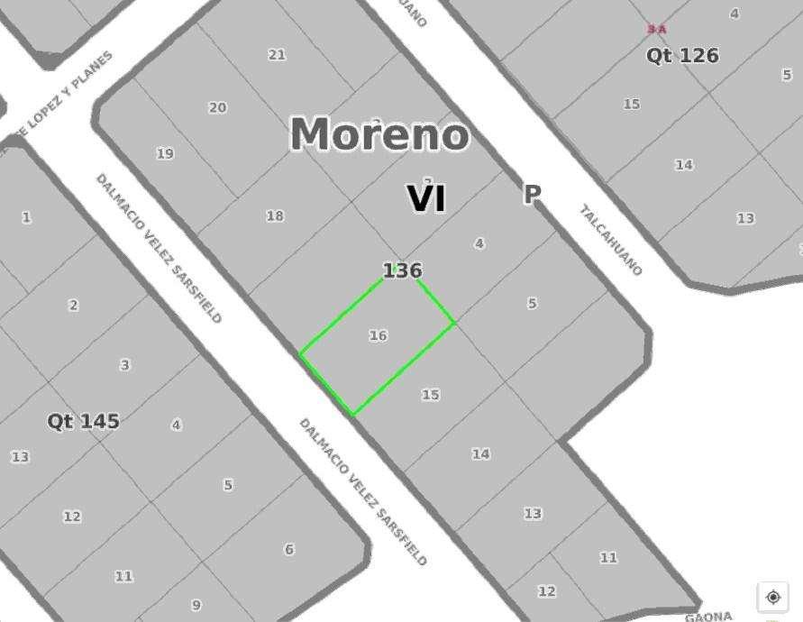 Lote en venta en Moreno Norte