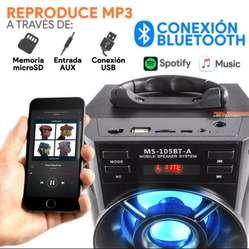 Parlante bluetooth torre multimedia radio fm usb excelente sonido!