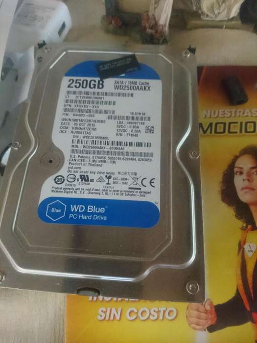Disco Duro 250gb Perfecto Estado