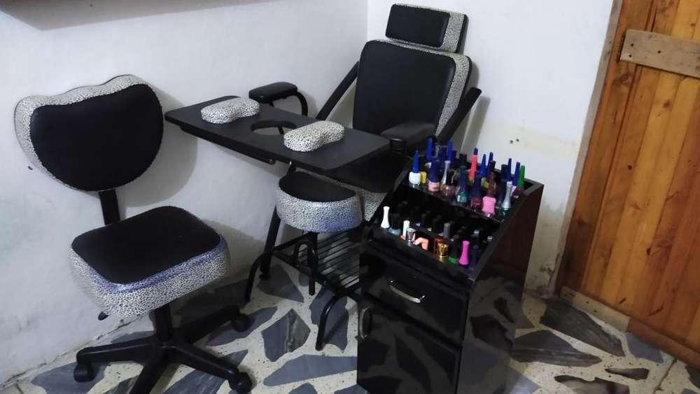 Silla para Manicure Y Pedicure