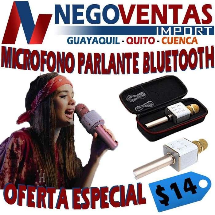 MICROFONO PARLANTE BLUETOOTH <strong>karaoke</strong>