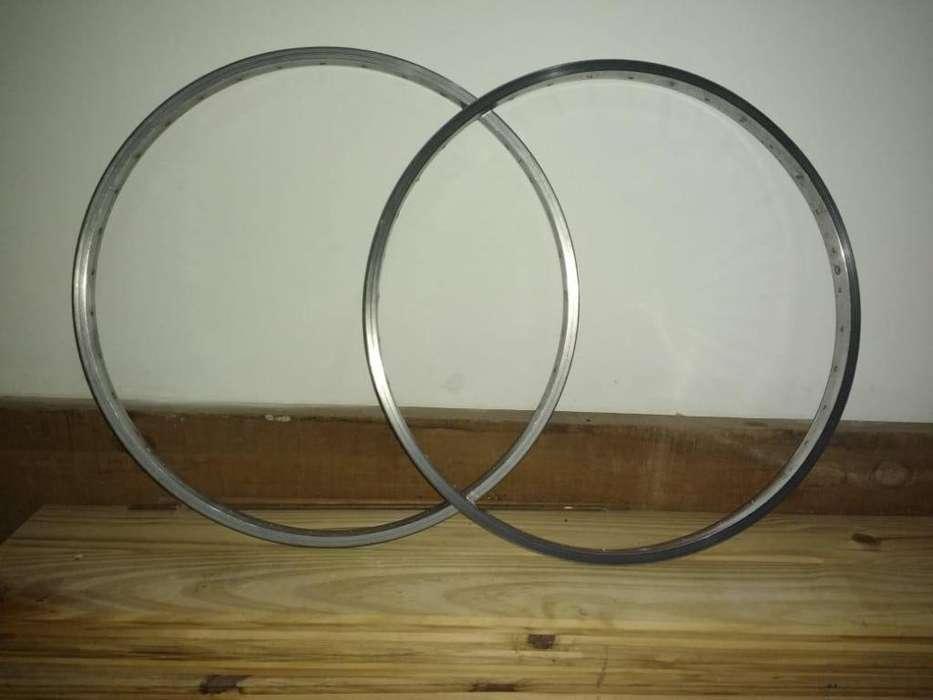 Par de aros de aluminio rodado 26