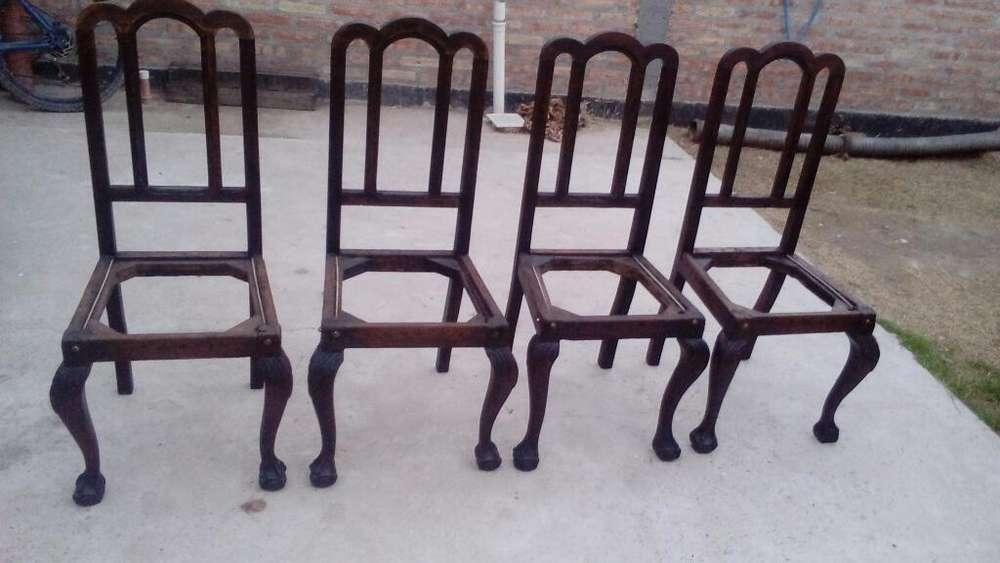 Vendo Cuatros <strong>silla</strong>s a Tapisar Y Mesa