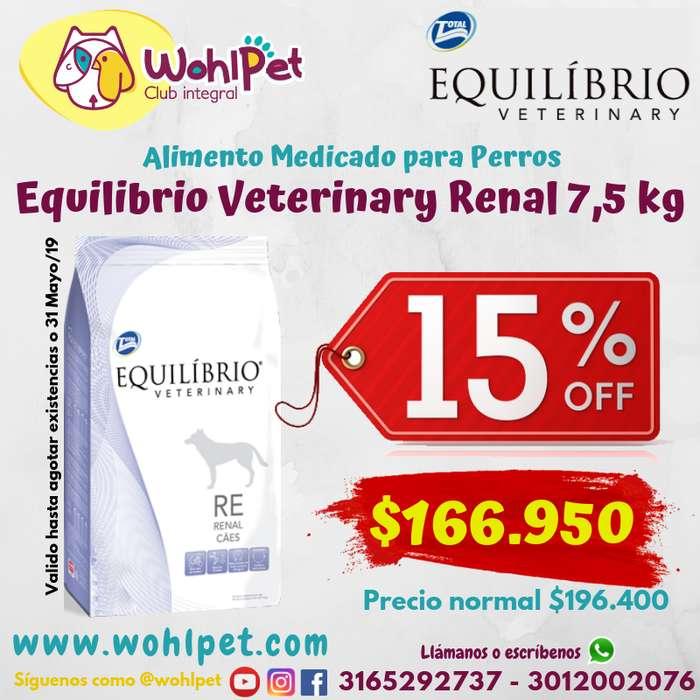 Aliemento perro renal equilibrio veterinary 7,5 kg