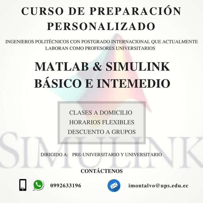 Matlab Simulink, Curso de Nivelación y Capacitación Personalizada