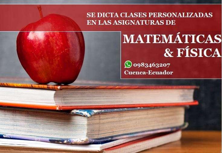 Profesor dicta clases personalizadas de Matemáticas y Física