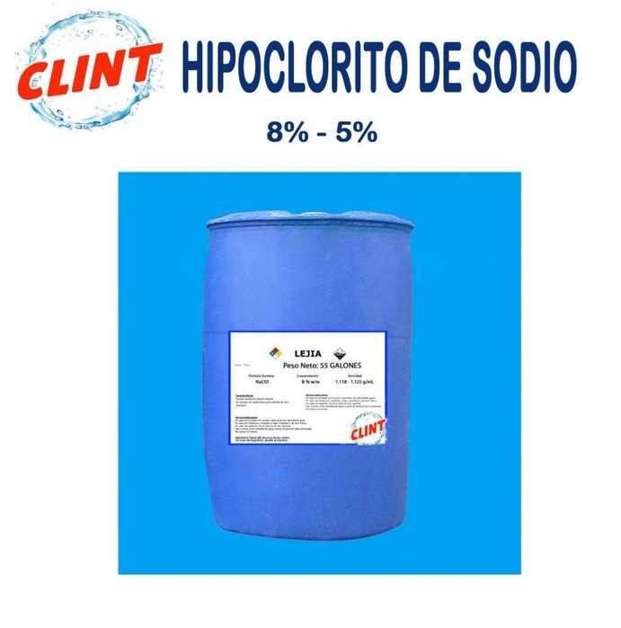 Hipoclorito de Sodio 8%