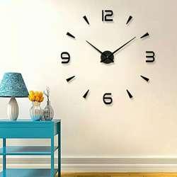 Reloj de Pared. 3d. Autoadhesivo. Regalo