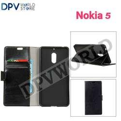 Nokia 5 Estuche Tipo Agenda Billetera Cuero Estuche Para LLevar Tus Documentos Simpre a la Mano