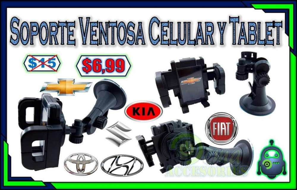 Soporte Ventosa Celular Y Tablet