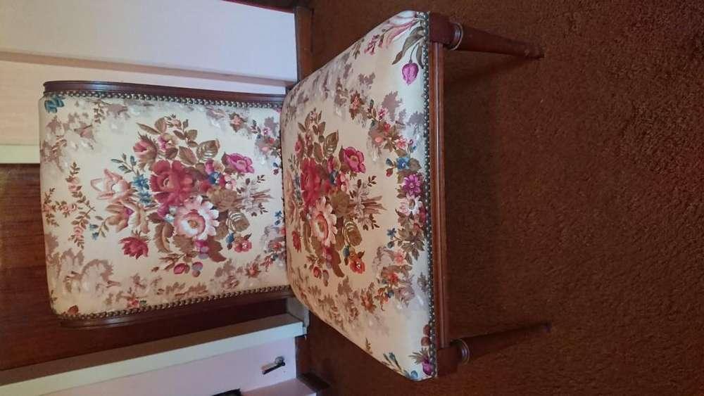 Antigua <strong>silla</strong> estilo ingles tapizado muy bueno floreado estado 10 puntos