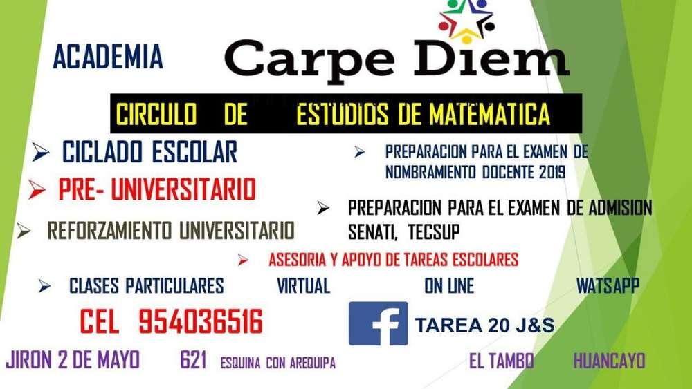 ACADEMIA MATEMÁTICA CARPE DIEM CLASES PARTICULARES 954036516