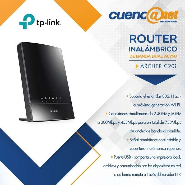 Tplink Ac750 Router Inalambrico De Banda Doble Archer C20i