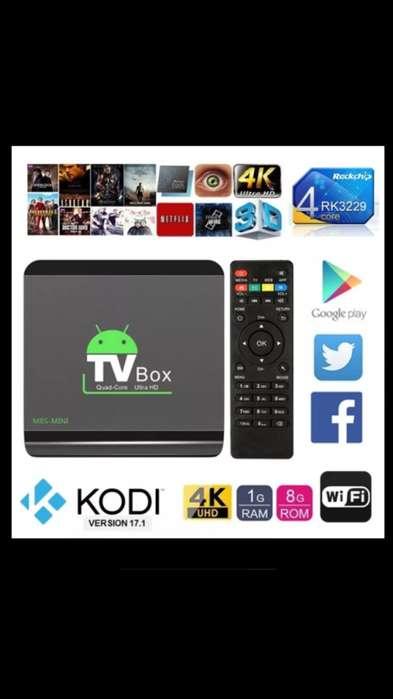 TV BOX android 8.1 Convierte cualquier tv o monitor en SMART TV. ,Obsequio 1 mes de NETFLIX 4K .
