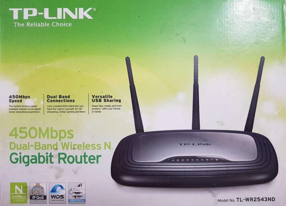 Super Remate Router Tplink 450 Mbps Modelo Tlwr2543nd