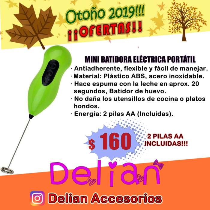 Mini <strong>batidora</strong> Eléctrica para Espuma, Café, Leche, Capuccino, Chocolate. Con 2 PILAS AA INCLUIDAS!!
