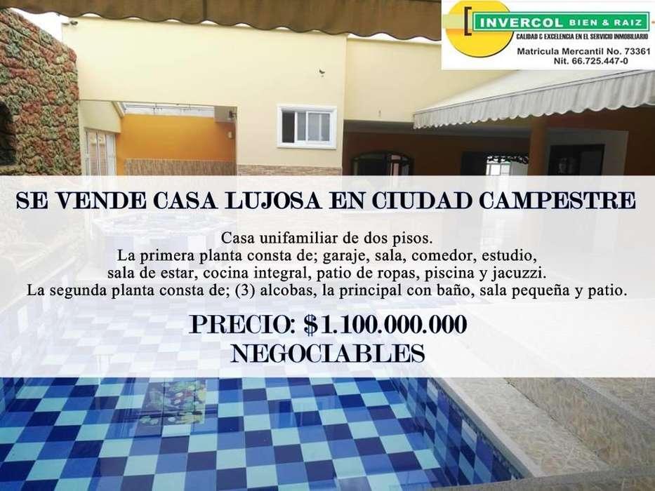 <strong>ciudad</strong> CAMPESTRE SE VENDE CASA LUJOSA