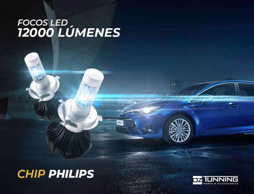 Luces LED OZ Tunning - 12000Lm, 8000Lm, Chip Philips, HID, T10, Luz de interior/ de salón