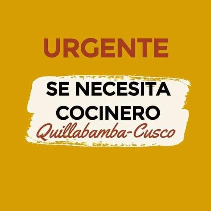 COCINERO PARA QUILLABAMBA-CUSCO