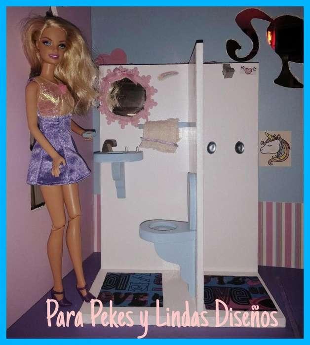 Mueblecito Casita Muñecas Barbie