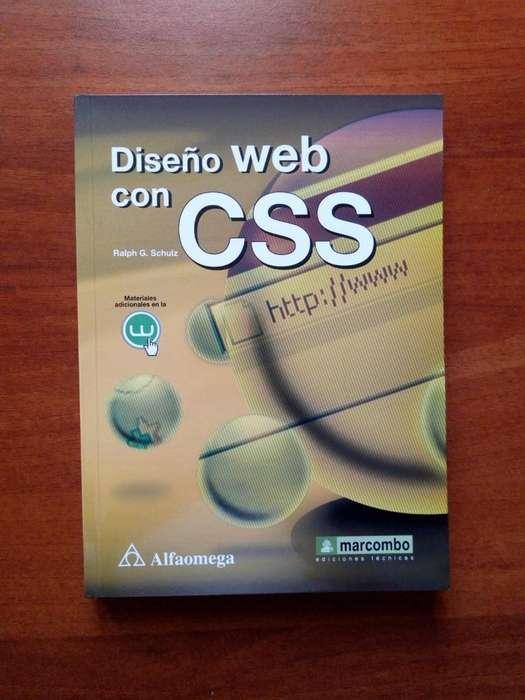 Libro Diseño WEB con CSS, Editorial Alfaomega, Sin Marcas Excelente Estado