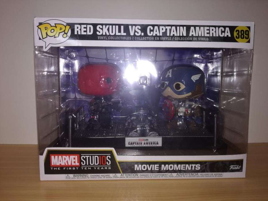 Funko Pop Mm Red Skull Vs Captain Améric