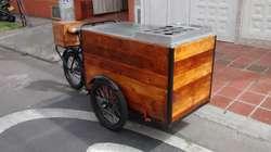 Triciclo para venta de fruta y bebidas