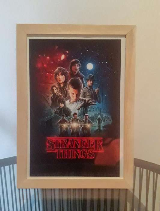 <strong>cuadros</strong> Stranger Things Trilogia A4