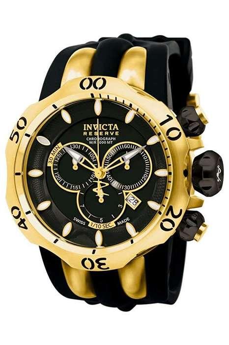 Reloj Hombre Invicta Venom Reserve Suizo Dorado Negro 10833