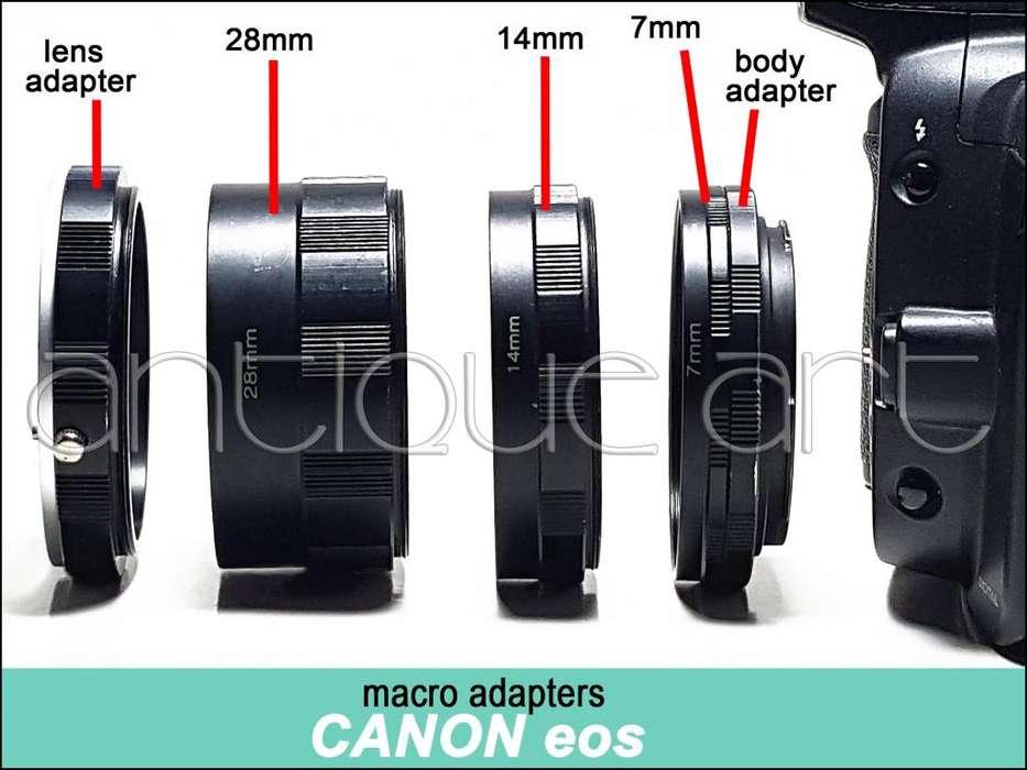 A64 Tubos Macro Canon Eos 7mm 14mm 28mm Adaptador