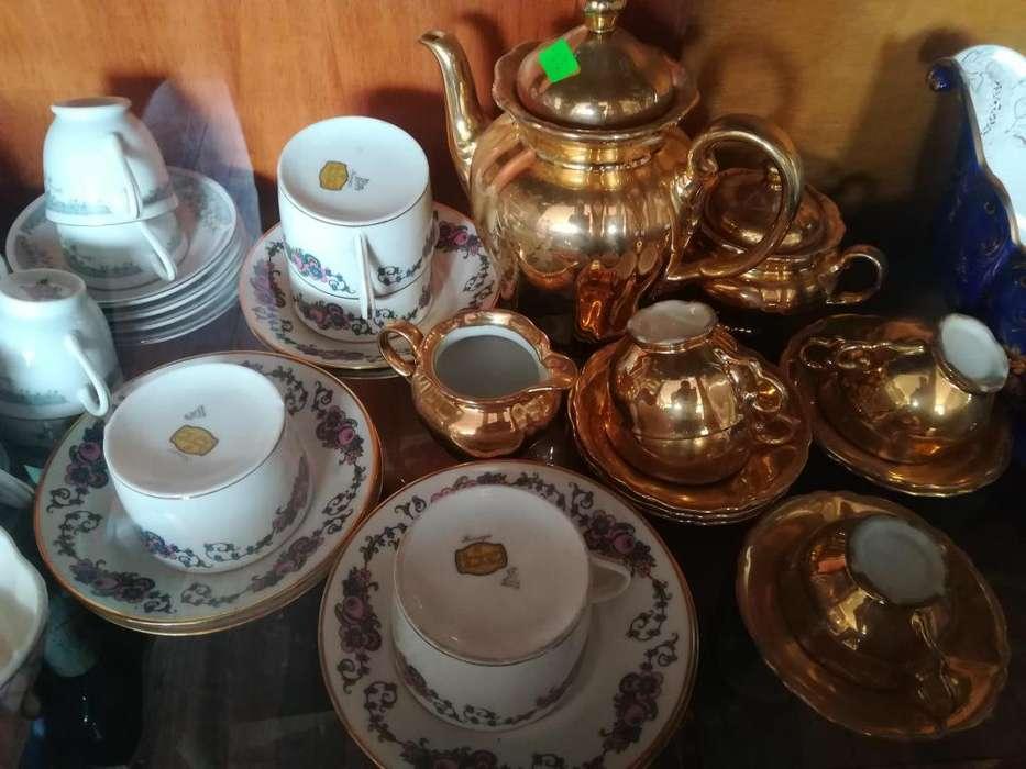 Tazas de porcelana Bañada en oro