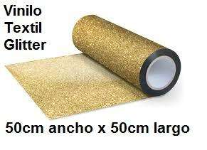 Vinilo Textil Glitter, Escarchado Tamaño 50cm X 50cm Coreano