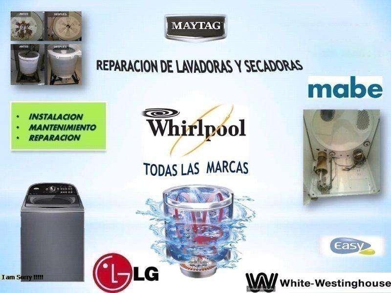 Reparacion a domicilio de lavadoras y secadoras de cualquier marca