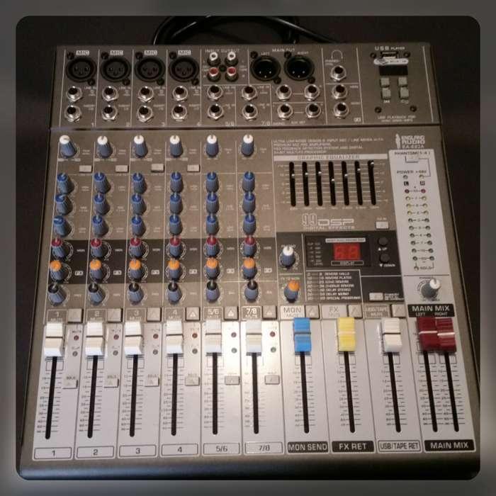 Nueva Consola 8 Canales England Audio Profesional