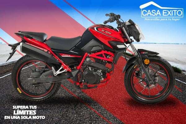 Moto Shineray Xy200-9 Street Año 2019 200cc Color Rojo / Negro Casa Éxito