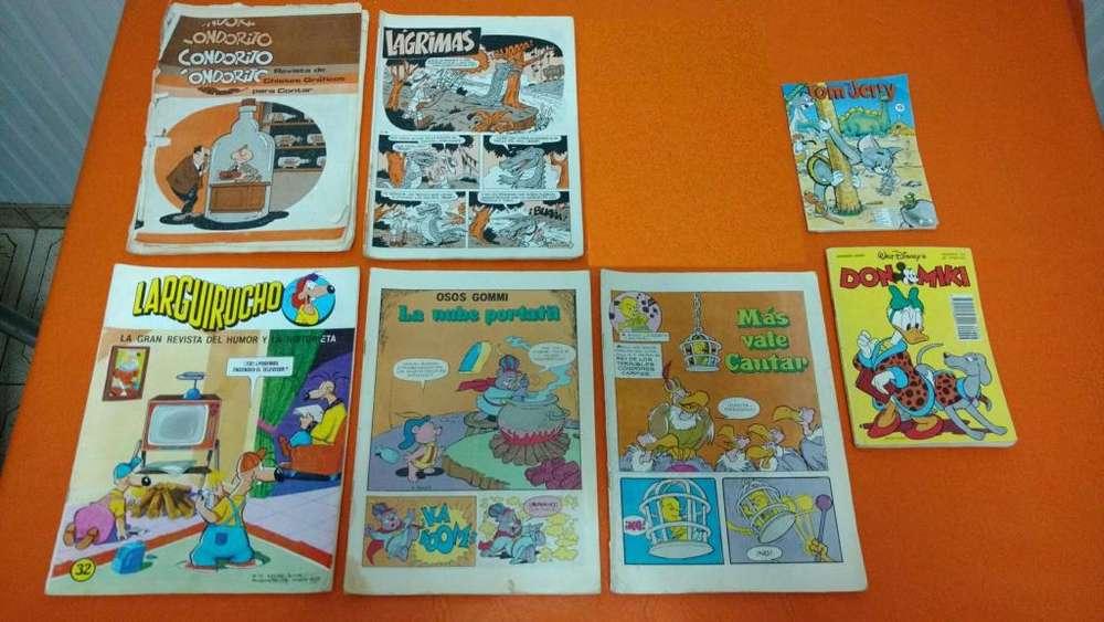 Lote 7 Revistas Historietas DISNEY , TOM Y JERRY , y otros!!!