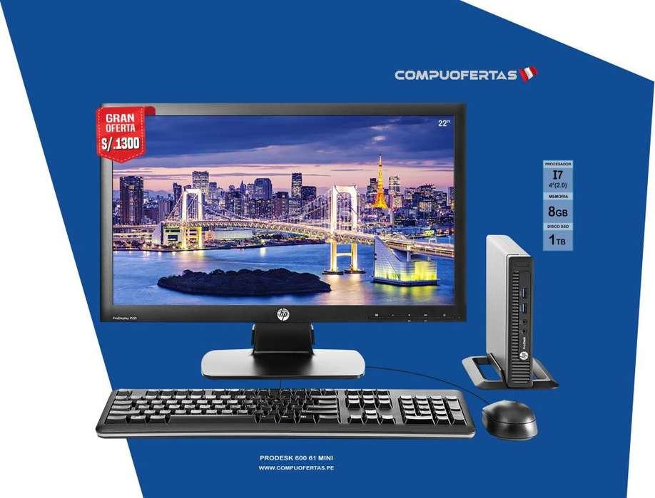 Computadora HP PRODESK 600 G1 Mini CORE I7 (4TA.GEN)