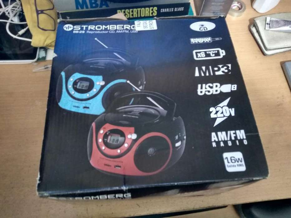 Reproductor <strong>mp3</strong> Usb, Cd, Am.fm Stromberg